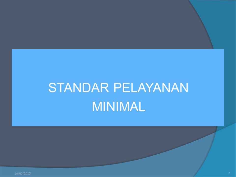 STANDAR PELAYANAN MINIMAL 14/01/20151