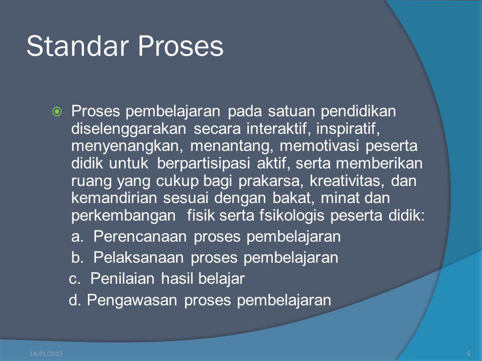 Standar Kompetensi Lulusan  Standar Kompetensi digunakan sebagai pedoman penilaian dalam penentuan kelulusan peserta didik dari satuan pendidikan, mencakup: a.