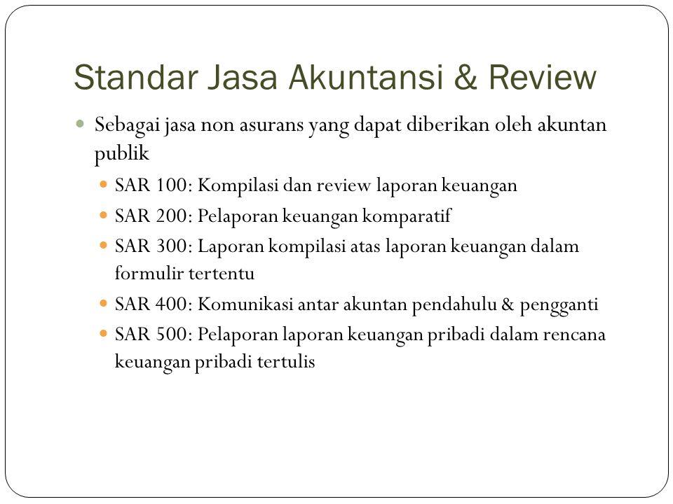Standar Jasa Konsultasi Standar ini hanya terdiri dari satu seksi, yang mengatur jasa konsultasi yang dapat diberikan oleh akuntan publik: Konsultasi Saran profesional Implementasi Transaksi Penyediaan staf Produk