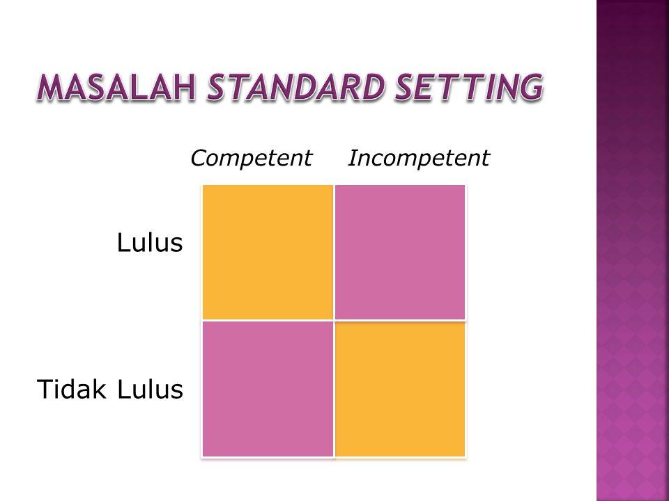 Lulus Tidak Lulus CompetentIncompetent