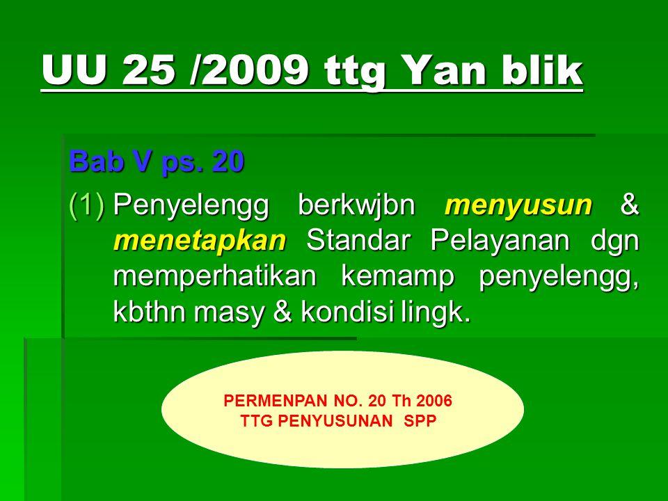 UU 25 /2009 ttg Yan blik Bab V ps.