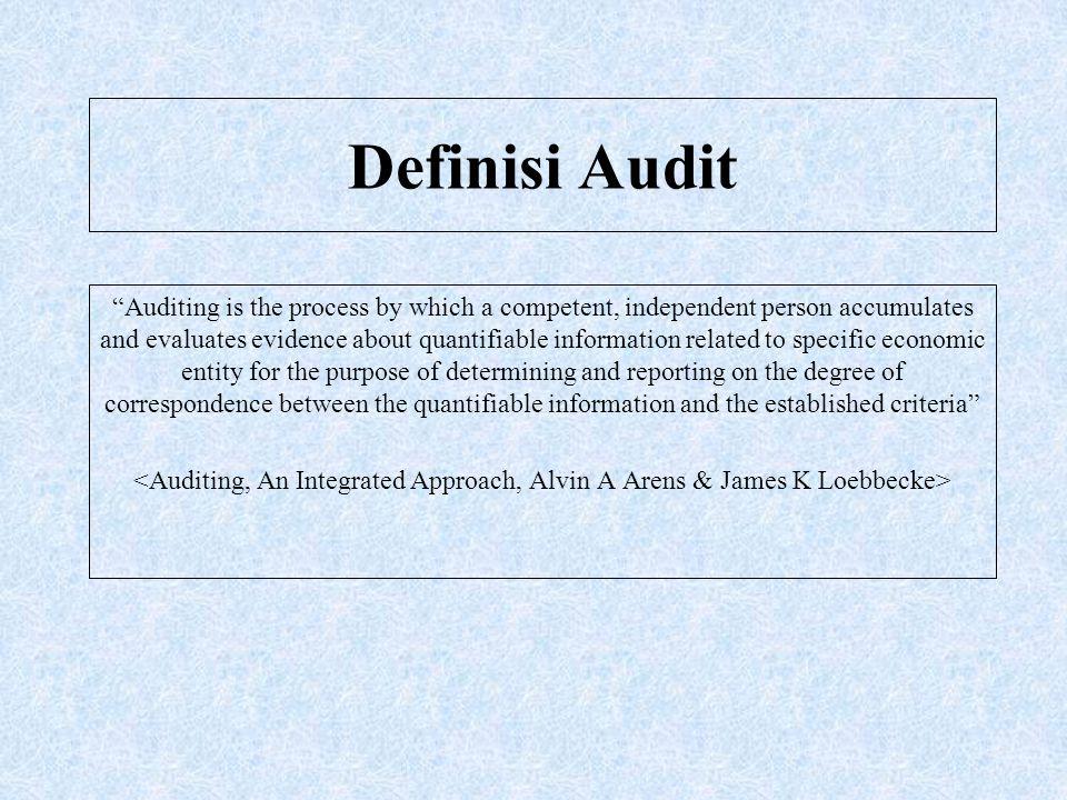 Audit Umum (Lanjutan) Dasar Hukum : Pasal 48 UU No.