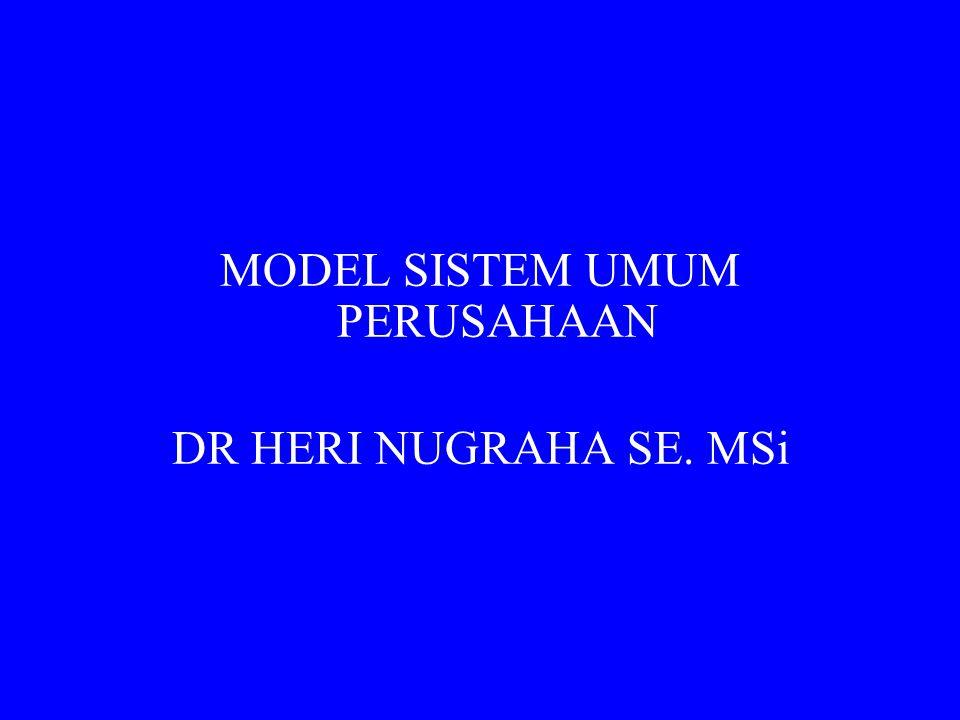 Penggunaan Model Sistem Umum  Pasar Swalayan (Supermarket)  Semua sember daya fisik mengalir melalui sistem fisik tetapi arus utama adalah arus material  Biro Hukum (Law Firm)