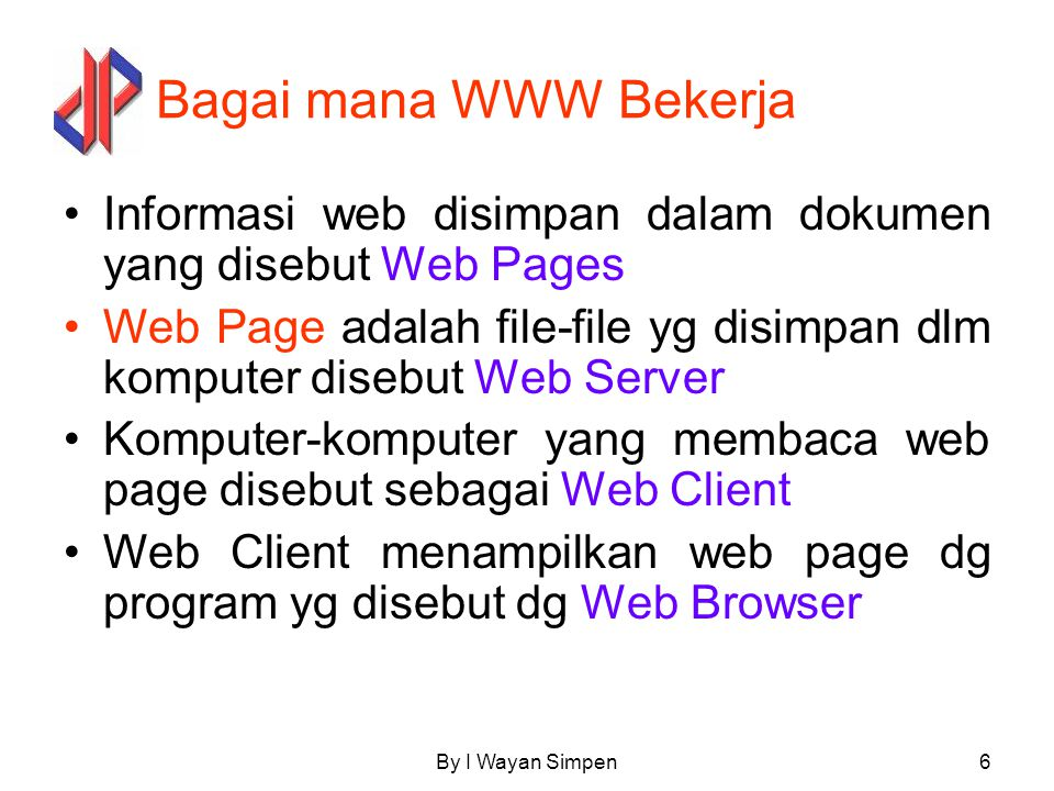By I Wayan Simpen7 Web Browser URL:http//../abc.htm HTTPS Computer Welcome Hardisk Web Browser URL:http//../abc.htm Welcome Welcome Client Server Internet Sevice Privider HTTP Get abc.htm 1 2 HTTP Reply 3 4
