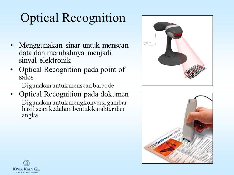 MICR MICR menggunakan mesin khusus untuk membaca karakter yang ditulis dengan menggunakan magnetik partikel. Biasa digunakan di Bank –Karakter preppri