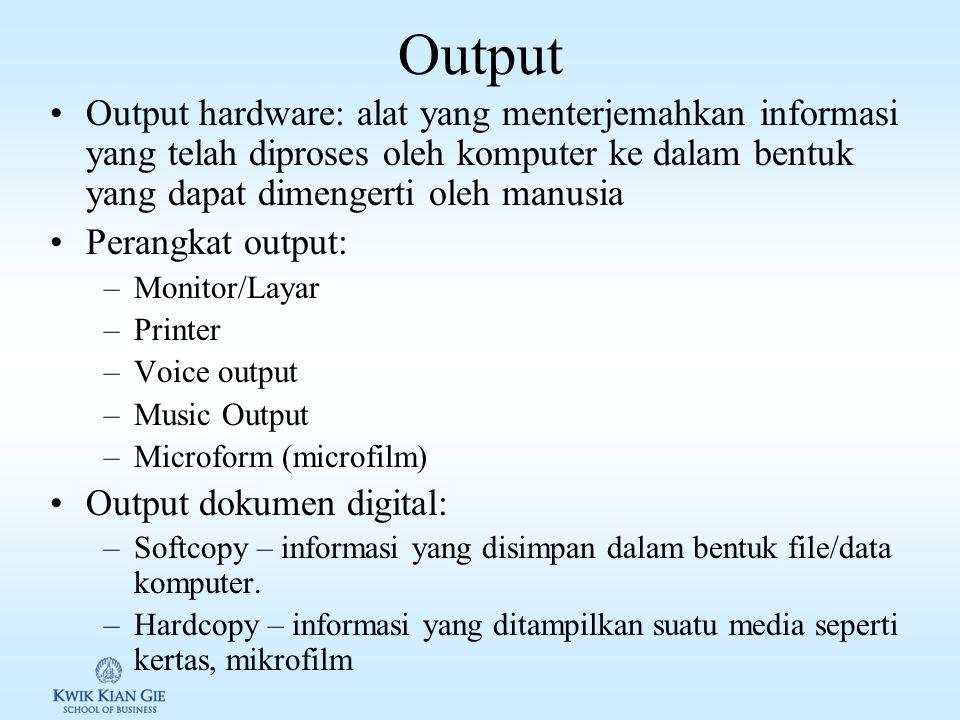 Video Input Video input: merupakan suatu rangkaian dari gambar-gambar diam, dari suatu waktu. Gambar-gambar tersbut di tampilkan sesuai dengan waktu s