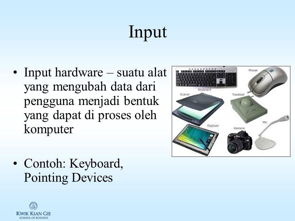 Input & output dimata pengguna User memasukan input dan mendapatkan hasilnya –Instan output: ketik di keyboard -> muncul di monitor, taping menu -> mu
