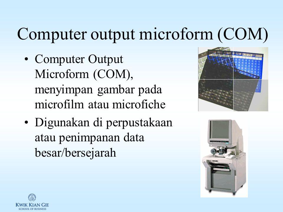 Output Musik Mengeluarkan suara dengan menggunakan speaker –Clips –Games –Video MIDI (Musical Instrument Digital Interface) –Berisi aturan memadukan i