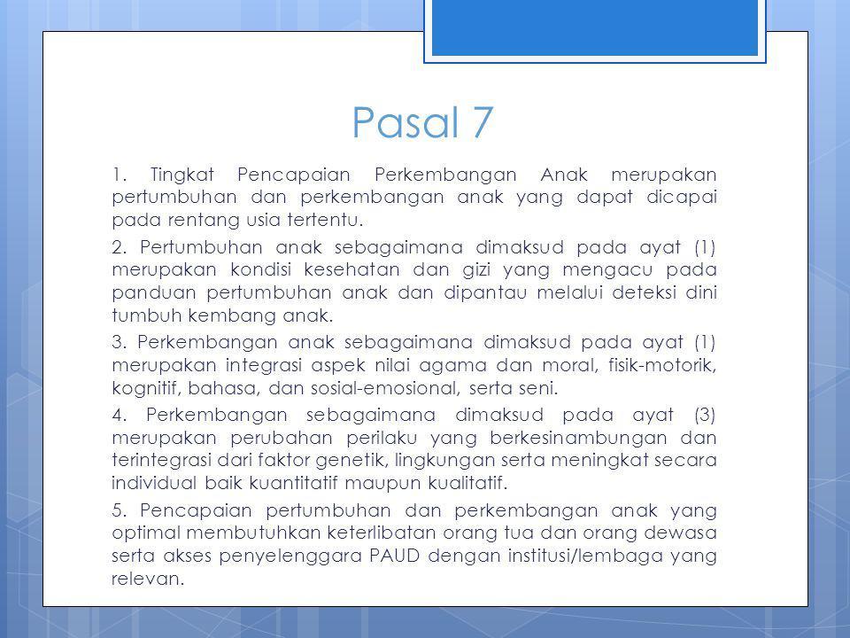 Pasal 7 1.