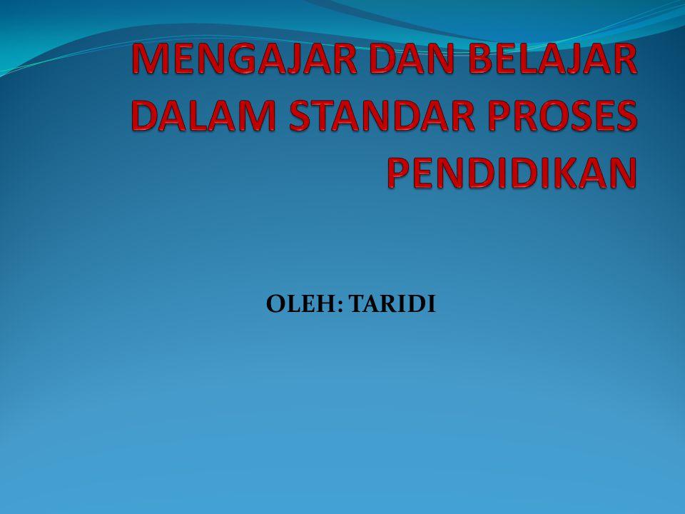 OLEH: TARIDI