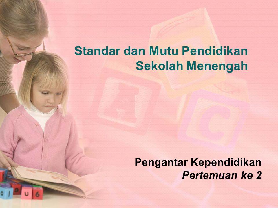 Berkaitan dengan pelaksanaan pembelajaran pada satu satuan pendidikan untuk mencapai standar kompetensi lulusan Standar Proses