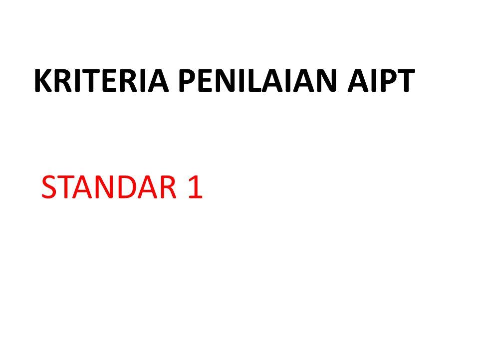 KRITERIA PENILAIAN AIPT STANDAR 1