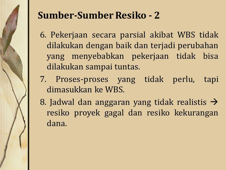 Sumber-Sumber Resiko - 2 6.