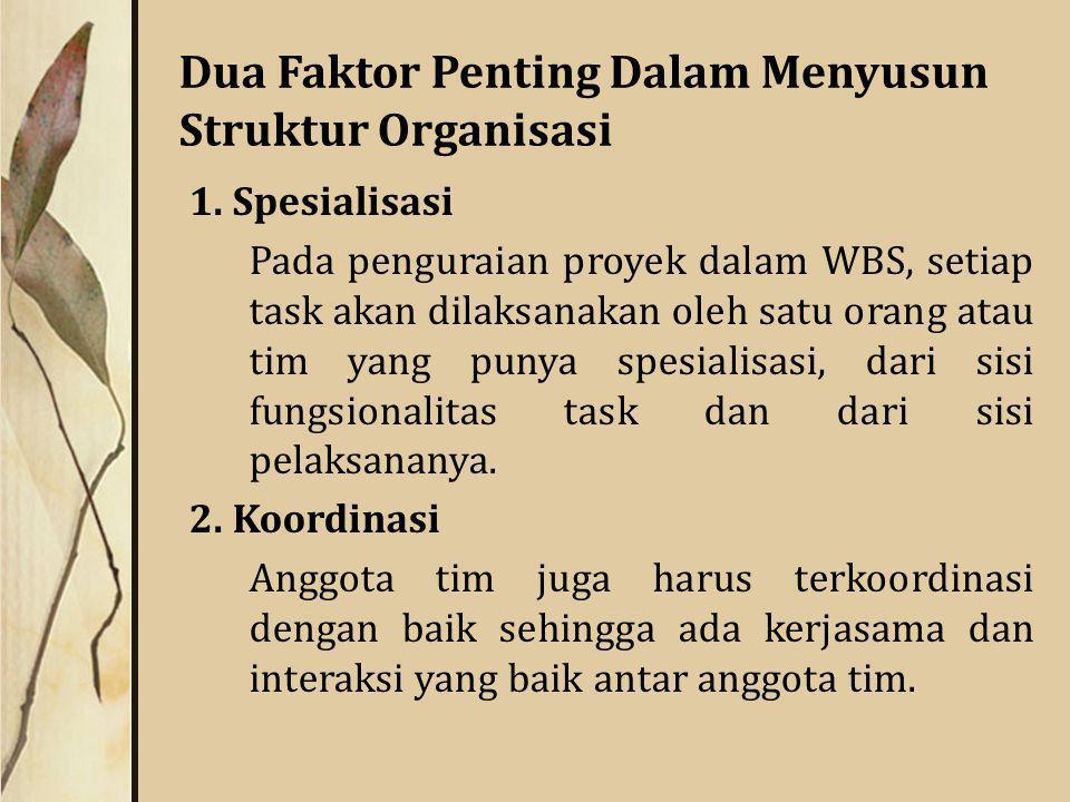 Dua Faktor Penting Dalam Menyusun Struktur Organisasi 1.