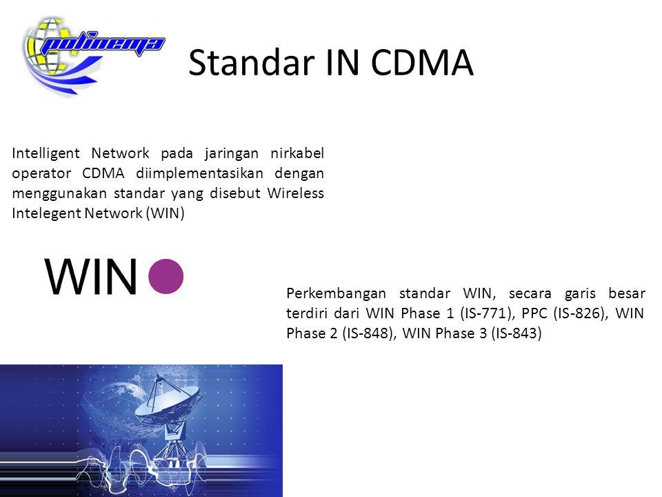 Standar IN CDMA Intelligent Network pada jaringan nirkabel operator CDMA diimplementasikan dengan menggunakan standar yang disebut Wireless Intelegent
