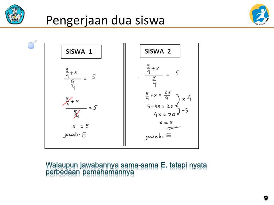 Pengerjaan dua siswa 9