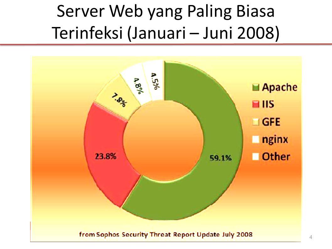 Server Web yang Paling Biasa Terinfeksi (Januari – Juni 2008) 4