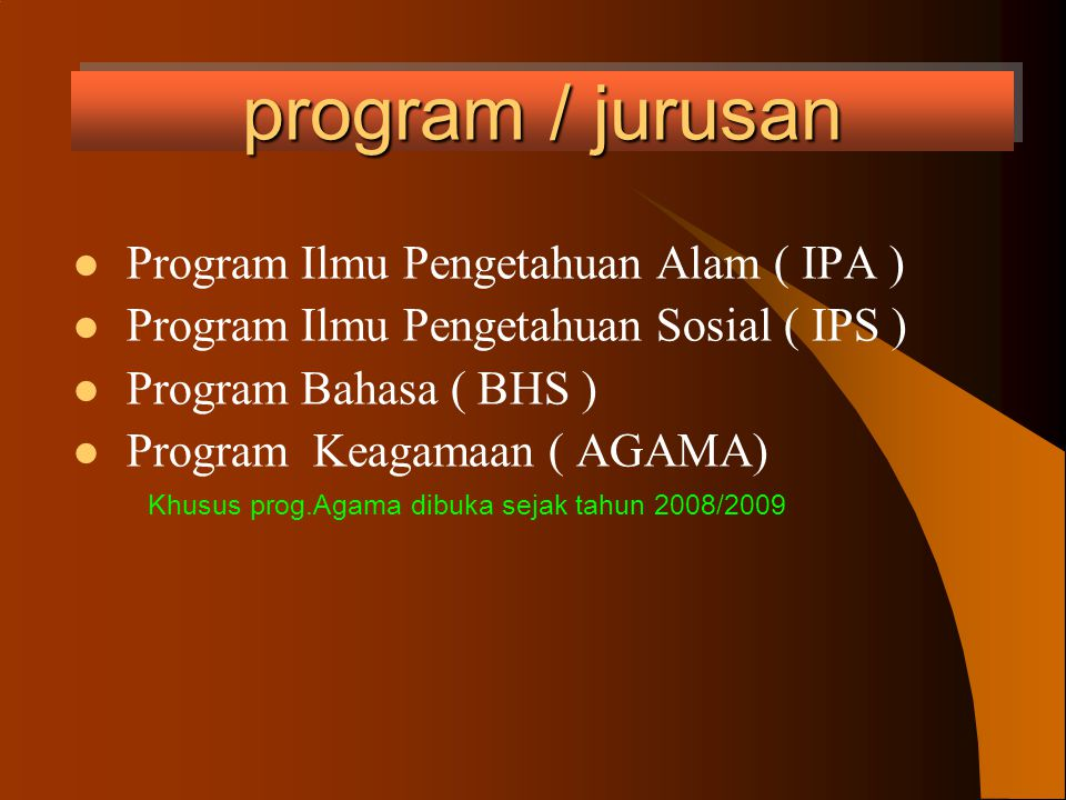 KURIKULUM Sejak tahun pelajaran 2006/2007 MAN 1 Praya telah menggunakan kurikulum KTSP