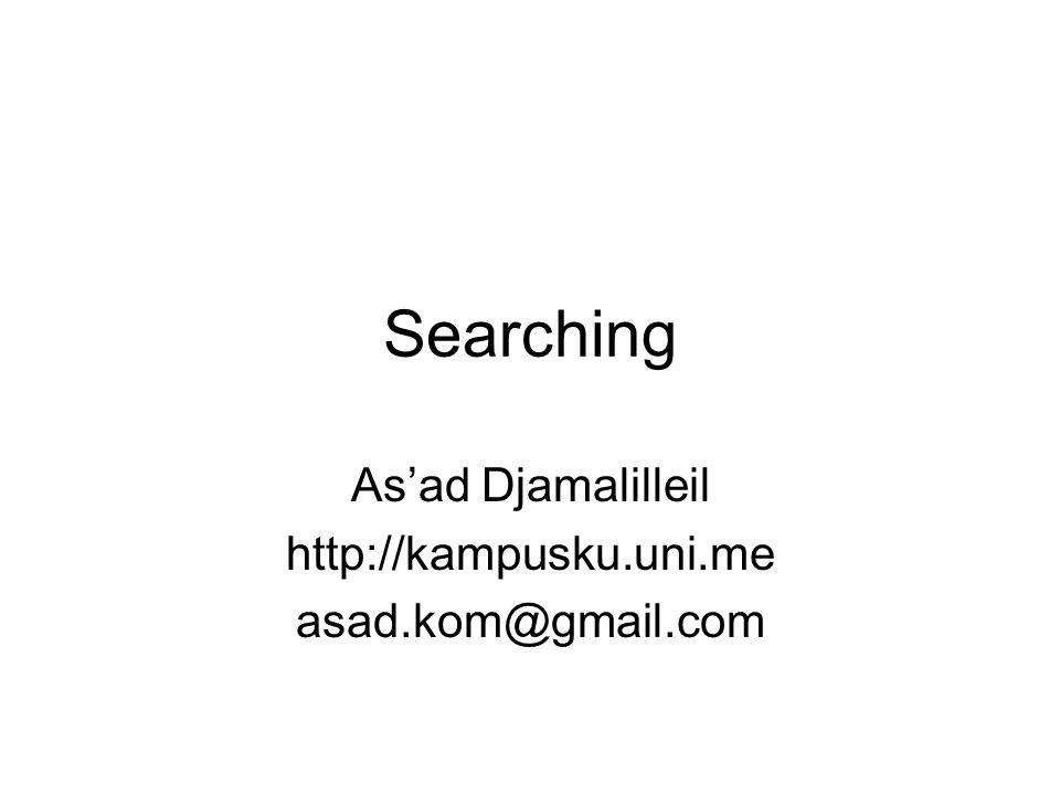 Searching As'ad Djamalilleil http://kampusku.uni.me asad.kom@gmail.com