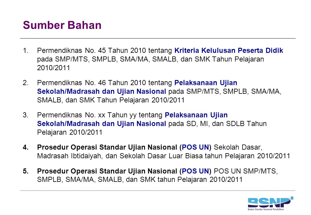 Jadwal Pelaksanaan UN Susulan SD/MI Halaman 36 Hari dan TanggalJamMata Pelajaran Rabu, 18 Mei 2011 08.00–10.00 B.
