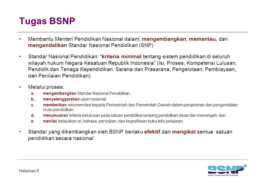 Anggota BSNP Periode 2009-2013 Ketua Prof.Dr. Ir.