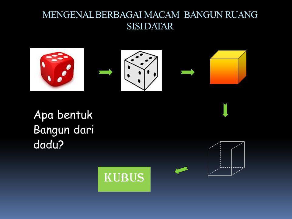 Tujuan Pembelajaran: Siswa mampu menyebutkan unsur-unsur kubus yaitu rusuk, bidang sisi, diagonal bidang, diagonal ruang, dan bidang diagonal.