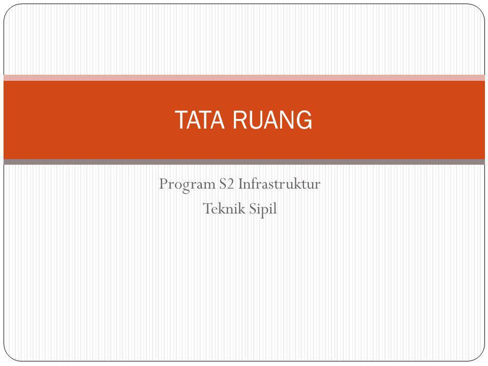 Program S2 Infrastruktur Teknik Sipil TATA RUANG