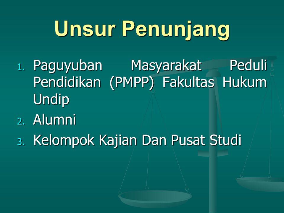 Unsur Penunjang 1.Paguyuban Masyarakat Peduli Pendidikan (PMPP) Fakultas Hukum Undip 2.