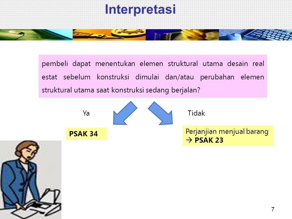 Interpretasi 7 pembeli dapat menentukan elemen struktural utama desain real estat sebelum konstruksi dimulai dan/atau perubahan elemen struktural utam