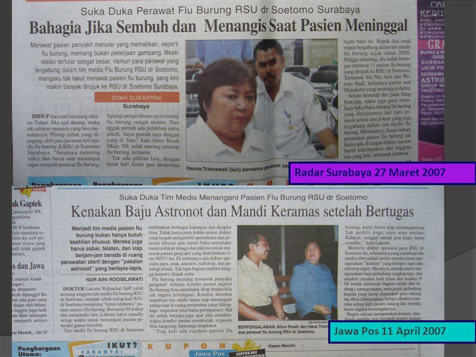 Radar Surabaya 27 Maret 2007 Jawa Pos 11 April 2007