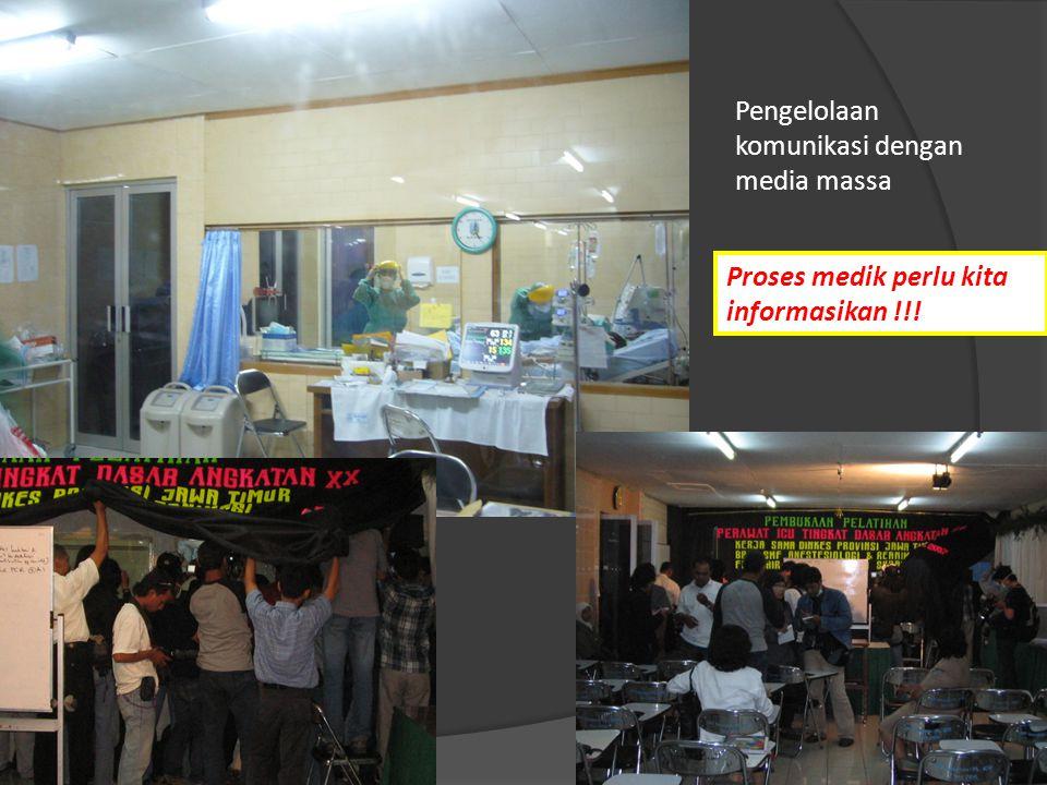 Pengelolaan komunikasi dengan media massa Proses medik perlu kita informasikan !!!