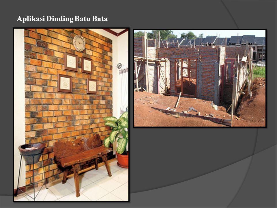 Aplikasi Dinding Batu Bata