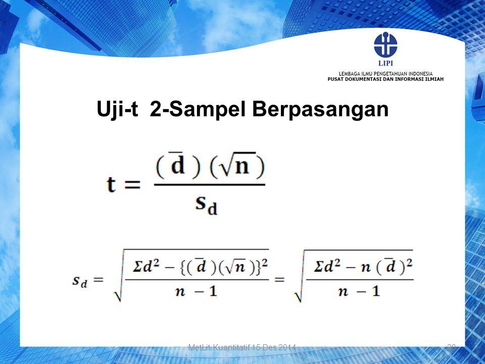 Uji-t 2-Sampel Berpasangan 28MetLit Kuantitatif 15 Des 2014