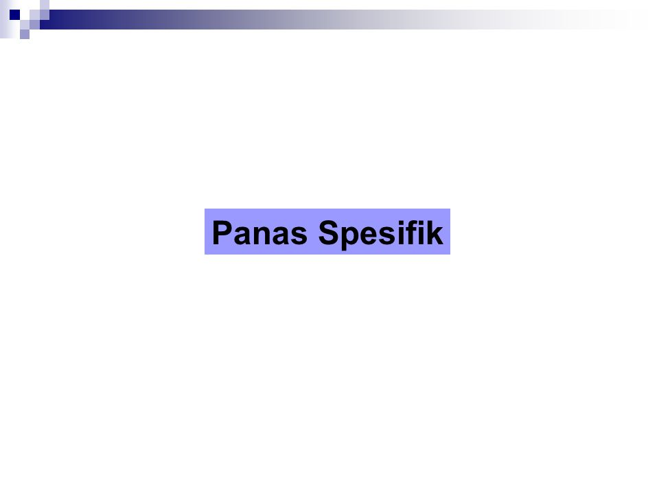 Panas Spesifik