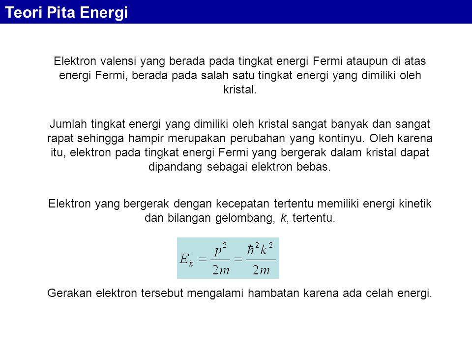 Elektron valensi yang berada pada tingkat energi Fermi ataupun di atas energi Fermi, berada pada salah satu tingkat energi yang dimiliki oleh kristal.