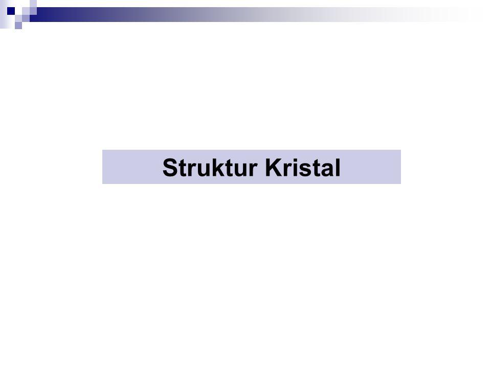 Kristal Kristal merupakan susunan atom-atom yang teratur dalam ruang tiga dimensi.