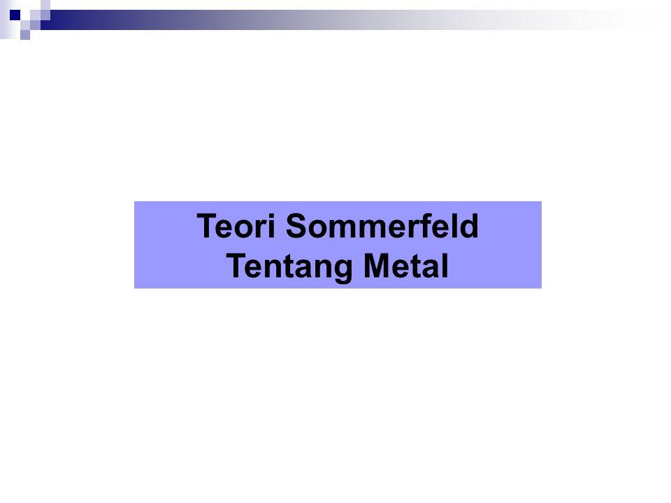 Teori Sommerfeld Tentang Metal