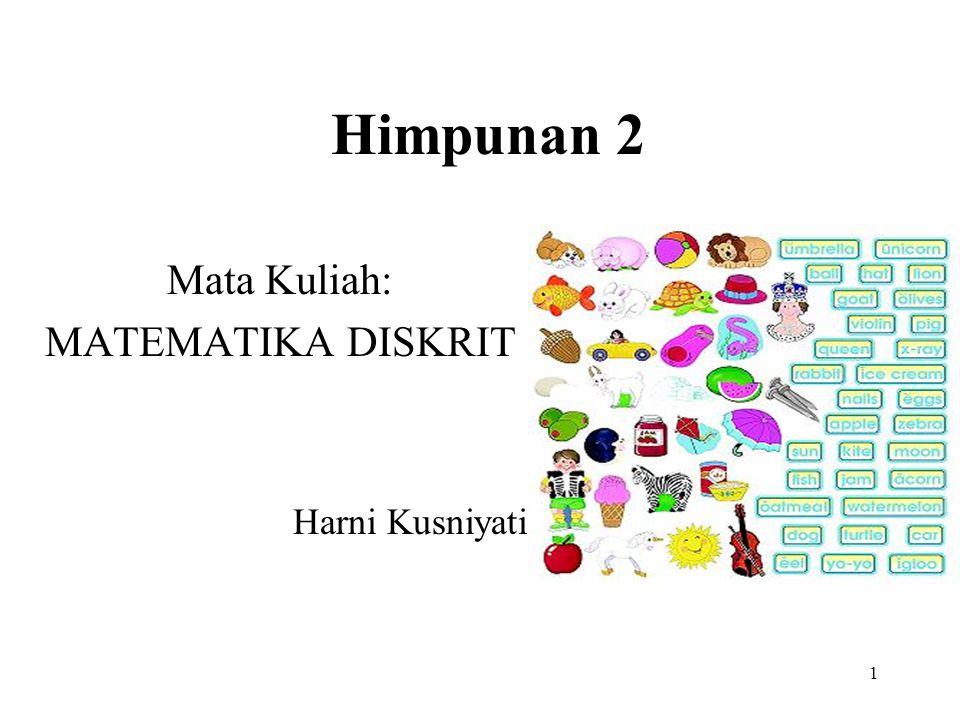 Tambahan Berdasarkan prinsip inklusi eksklusi, formula untuk menghitung banyaknya anggota himpunan hasil gabungan empat himpunan hingga.