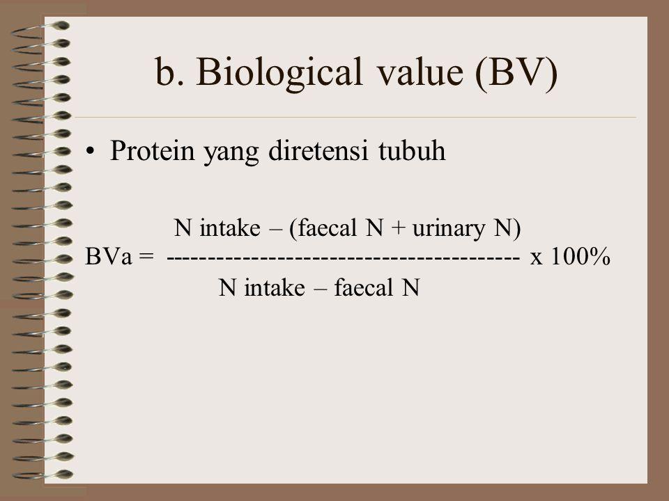 4. Penilaian kualitas protein Non-ruminansia a.protein efficiency ratio (PER) - syarat: konsumsi kalori harus cukup, kandungan protein cukup namun tid