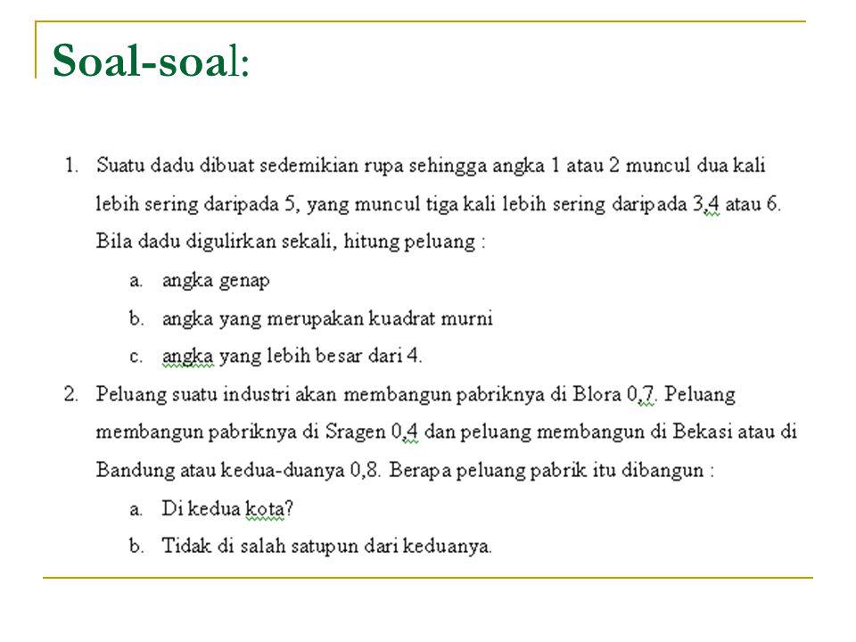 Soal-soal: