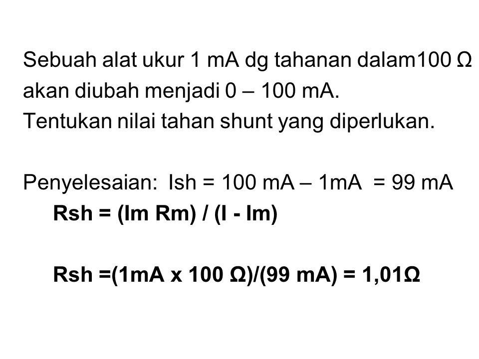 MULTI RANGE AMMETER PEMASANGAN BEBERAPA TAHANAN SHUNT DAPAT DILAKUKAN : 1.TERMINAL (BINDING POST) 2.SAKLAR a.