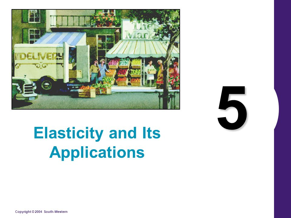 Copyright © 2004 South-Western 5 Elasticity and Its Applications