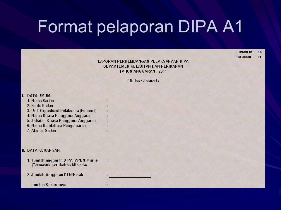 Format pelaporan DIPA A1