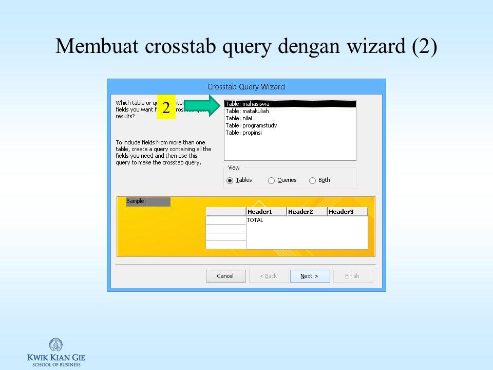 Membuat crosstab query dengan wizard (1) 1
