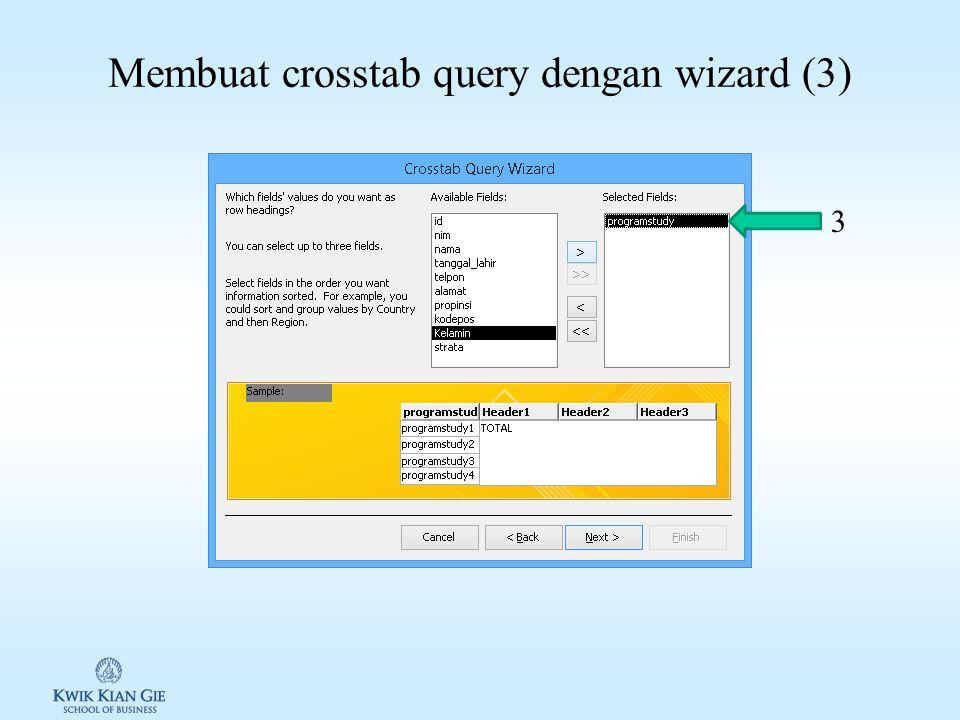 Membuat crosstab query dengan wizard (2) 2