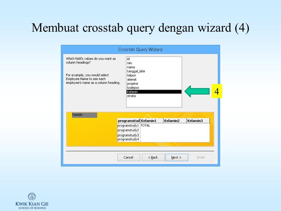 Membuat crosstab query dengan wizard (3) 3