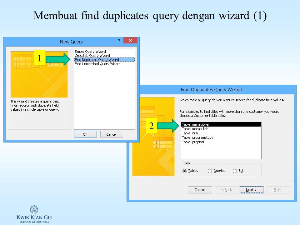 Membuat crosstab query dengan wizard (6) 6