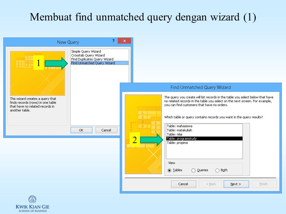 Membuat find duplicates query dengan wizard (3) QFindDMhs propinsiprogramstudynama DKIAkuntansiErna DKIAkuntansiArdila 5