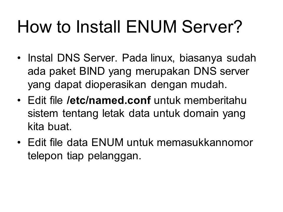 How to Install ENUM Server. Instal DNS Server.