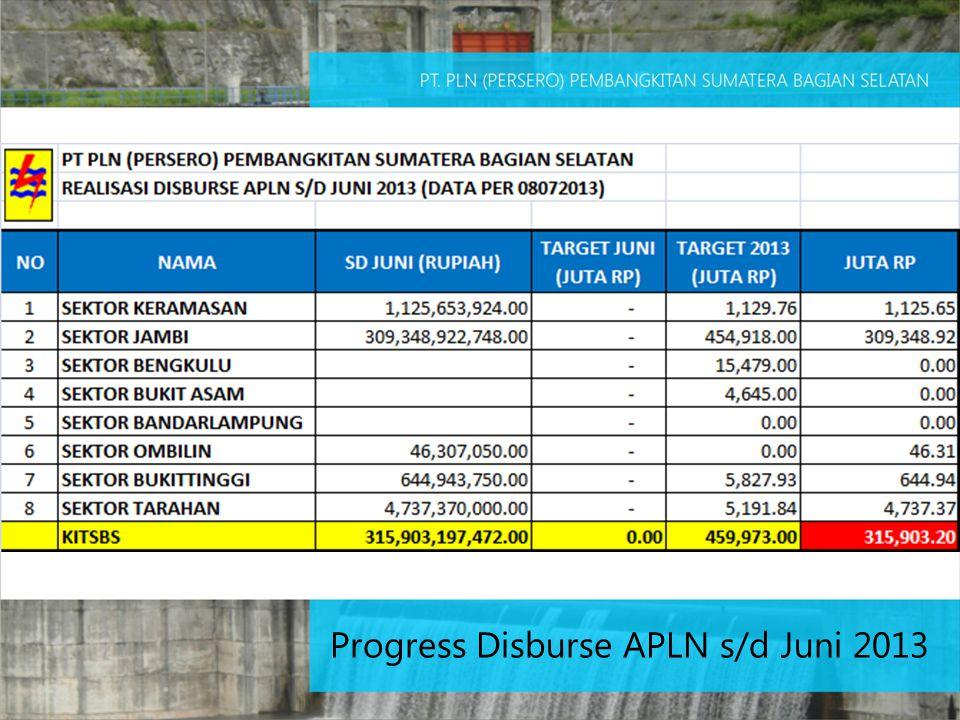 Progress Disburse APLN s/d Juni 2013